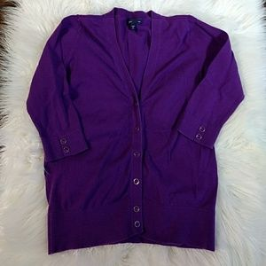 Girl's Gap Purple Short Sleeve Cardigan L 10